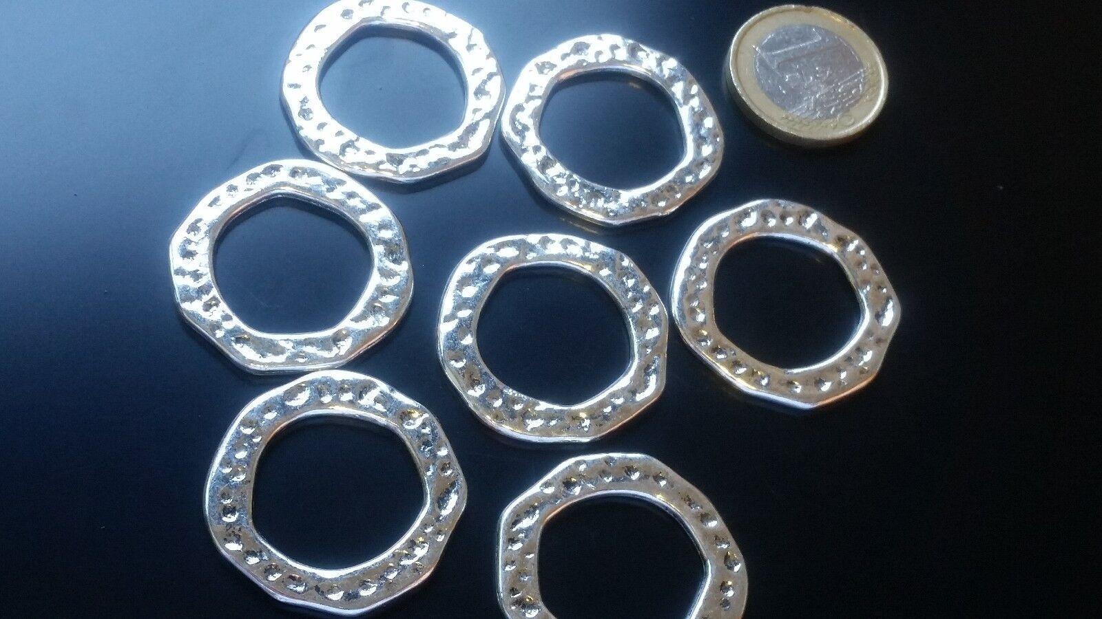 De 6 a 90 Entrepiezas Zamak AROS M circulos (ARO-32) pulseras 50 para ti collar