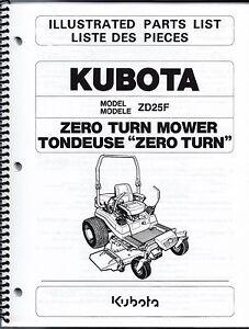 Outstanding Kubota Zd25 Zero Turn Mower Illustrated Parts Manual 97898 41590 Ebay Wiring Database Gramgelartorg
