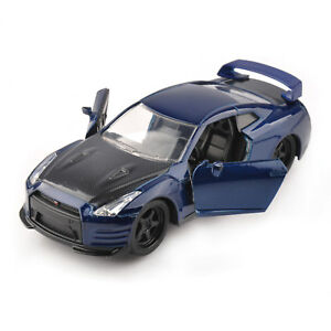 1//32 Jada 2009 Nissan GT-R Diecast Vehicles Car Collection Model Blue Black Toy
