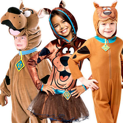 Scooby Doo Kids Fancy Dress Cartoon Character Animal Dog Childrens Costumes New