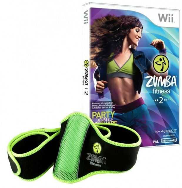 Wii Zumba Fitness 2 Party yourself into Shape + Fitness-Guertel dans l'emballage