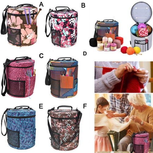 Large Knitting Tote Bag Woolen Yarn Storage Bag for Organizer Crochet Knitt Fp