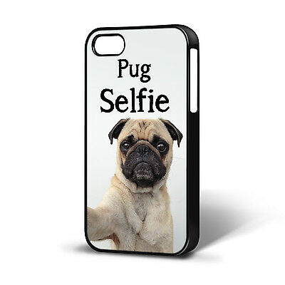 PUG SELFIE FUNNY DOG ANIMAL CASE COMPATIBLE WITH IPHONE