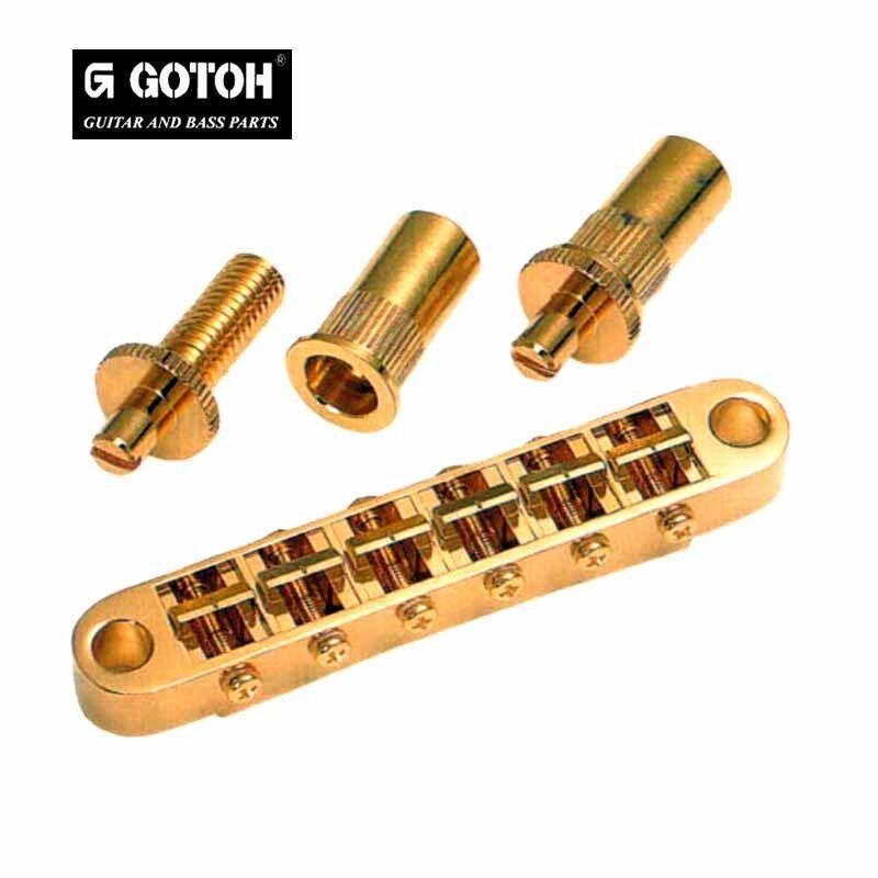 Chevalet Gotoh GE103B-T Nashville Tune-O-Matic Gibson LP SG Bridge 6,4mm 8M Gold
