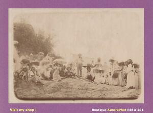 PHOTO-1890-ALGERIE-GROUPE-DANS-LE-BENI-CHENACHA-DOUAR-AFRIQUE-DU-NORD-A201