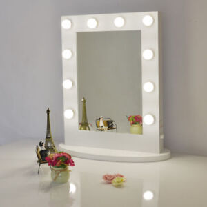 White-Hollywood-Makeup-Vanity-Mirror-with-Light-Dimmer-Stage-LED-Beauty-Mirror