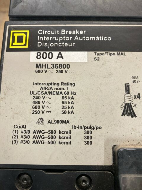 NEW Square D FH26060BC I-Line Circuit Breaker 60A 3P 600V FH BC 60 Amp