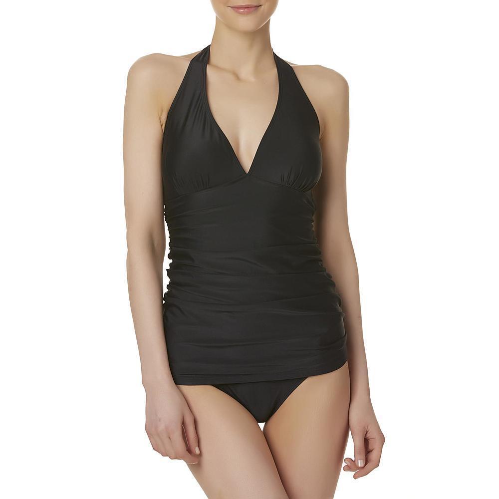 f9fad566a58 Women s Tropical Escape Halter Fauxkini Swimwear Swimsuit One Piece ...