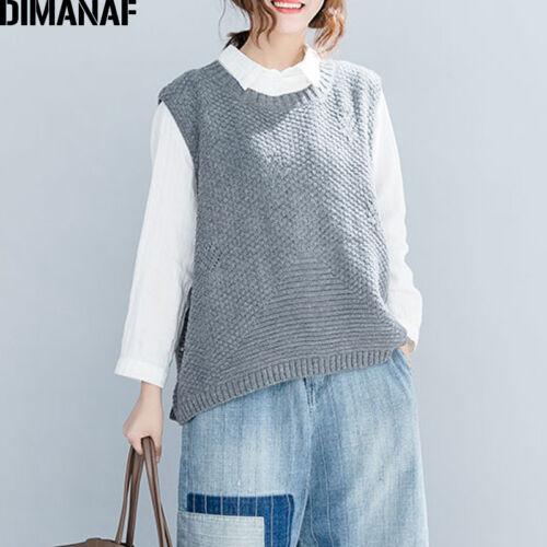 Knitting Clothes Pullove Sleeveless Female Tops Vest Women Ladies Cotton Sweater zvnxEB4