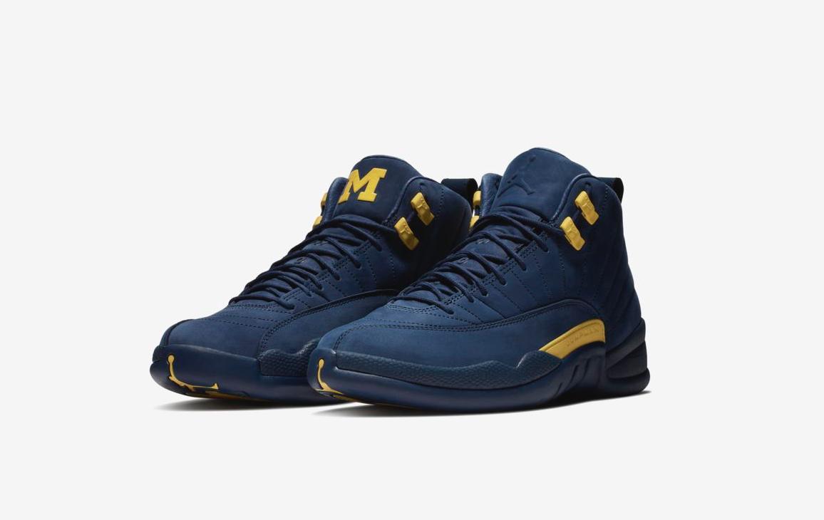 Nike Air Jordan 12 retro Michigan NRG College Navy / de amarillo comodo el modelo mas vendido de / la marca 31b33c