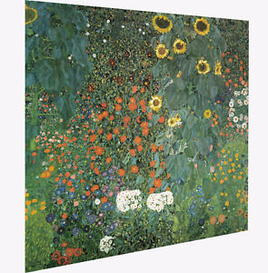 Gustav-Klimt-sunflowers-art-painting-print-landscape-vintage-europe