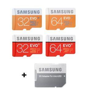 SAMSUNG EVO / EVO PLUS 32GB 64GB MIT ADAPTER SD MICRO UHS1
