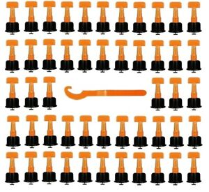 50pcs Floor Wall Tile Niveleur Outils Construction Carrelage Nivellement Système Réutilisable-afficher Le Titre D'origine