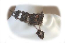 STEAMPUNK CAMEO asymmetric necklace, steampunk pendant Steampunk Fashion