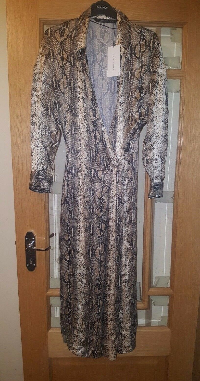 629aac33e92 BNWT ZARA SNAKESKIN PRINT SHIRT MIDI DRESS SIZE MEDIUM SHIRT nnfrri20487- Dresses