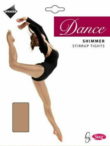 New Women/'s Silky Shimmer Dance Tights Full Foot or Stirrup Foot Size S-XL