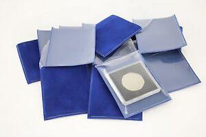 Coingallery-Deluxe-Blauer-Samt-Gesichert-Transparent-Frontseitig-Grosse-Quadrum