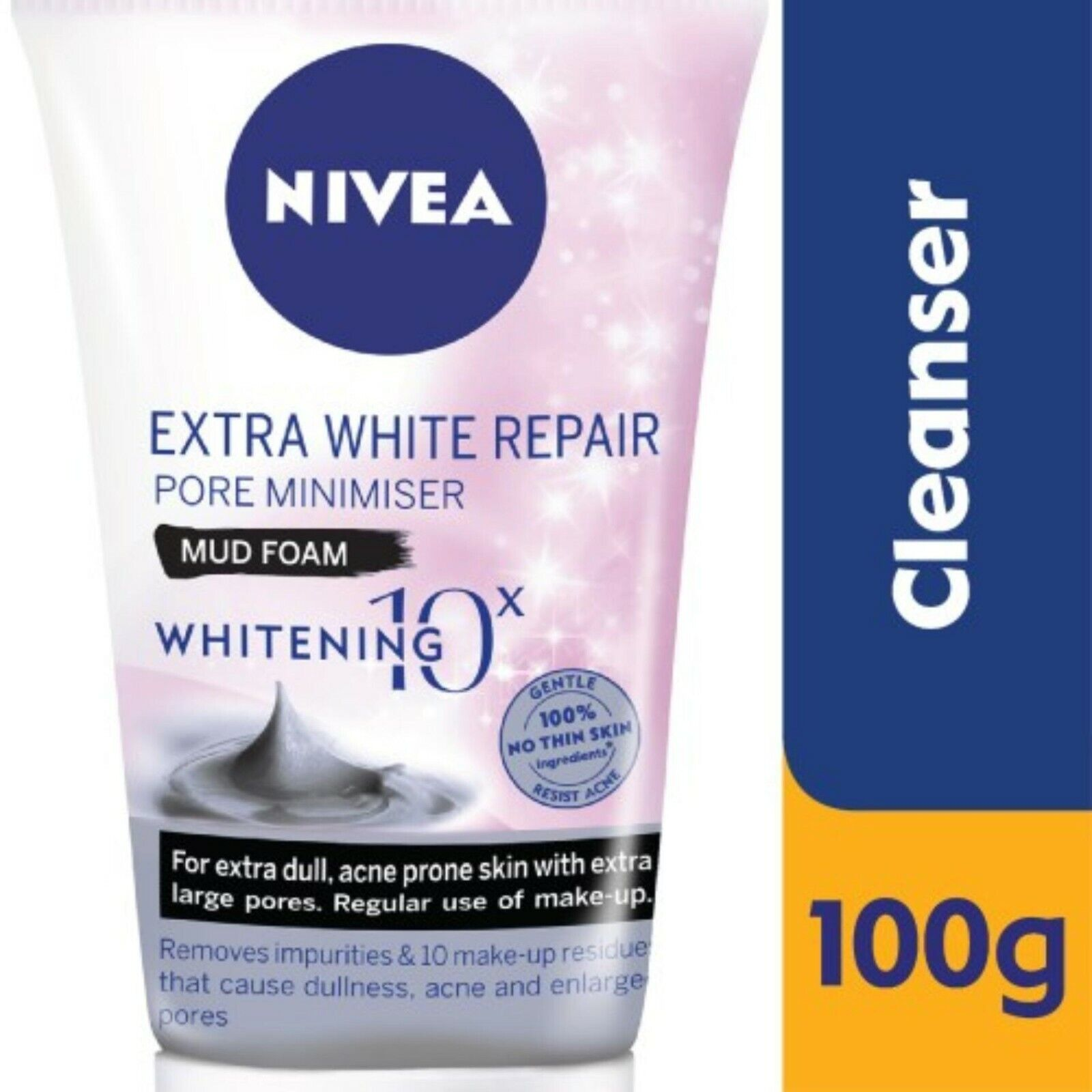 Nivea Men Extra White Pore Minimizer Volcanic Mud Facial Foam Net