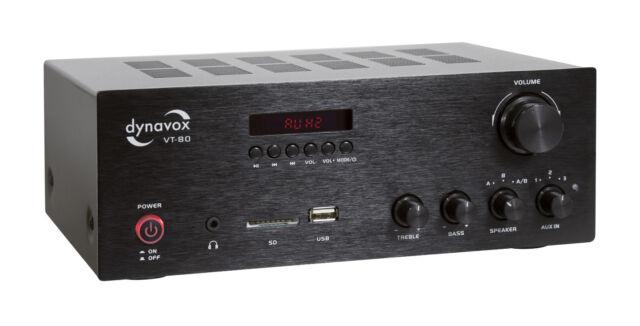 Dynavox VT-80 Estéreo Kompakt-Verstärker Negro 2x 80W Max. VT80