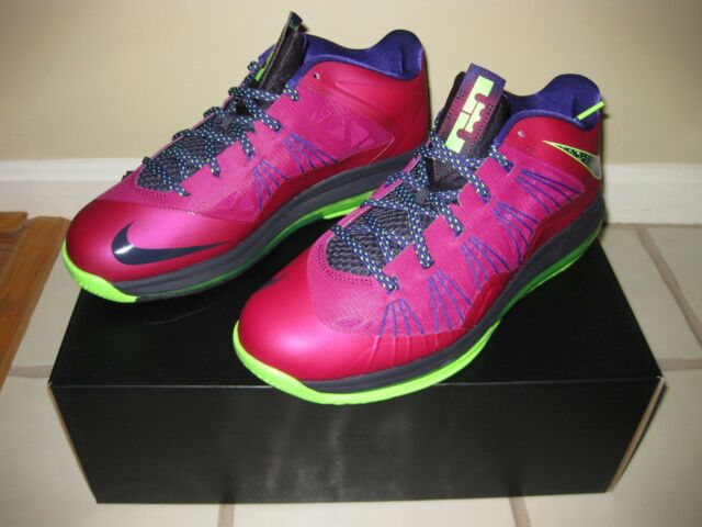 brand new 289cb 46b96 Nike Air Max Lebron X 10 Low 579765-601 Raspberry Red Basketball Shoes Size  11