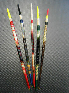 5-Painted-Old-Spiral-Porcupine-Quills-Float-Fishing