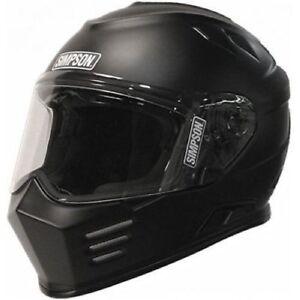 Simpson-Safety-GBDM3-Matte-Black-Ghost-Bandit-Helmet-DOT-ECE-Certified-Medium