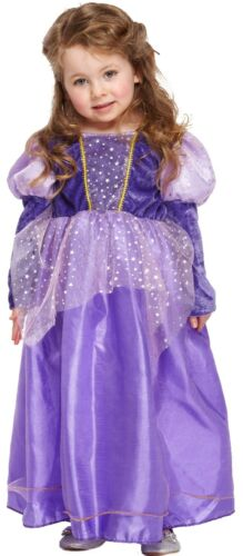 Girls Toddler Purple Stars Princess Royal Fancy Dress Costume Outfit Age 3 years
