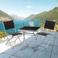 BISTRO SET LUXURY OUTDOOR GARDEN FURNITURE PATIO SETS 2 SEATER CHAIR TABLE STEEL