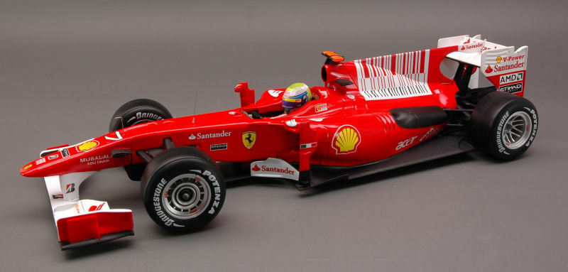 Ferrari F10 Felipe Massa 2nd Bahrain GP 2010 1 18 Model T6288 HOT WHEELS
