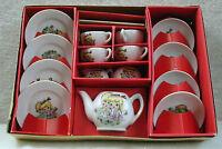 Pengo Toy China Tea Set Made in Japan 17 Pieces Original Box Boy & Girl Pattern