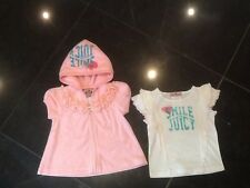 Juicy Couture New & Gen. Baby Girls Pink Hoody & T-Shirt With Logo 6/12 MTHS