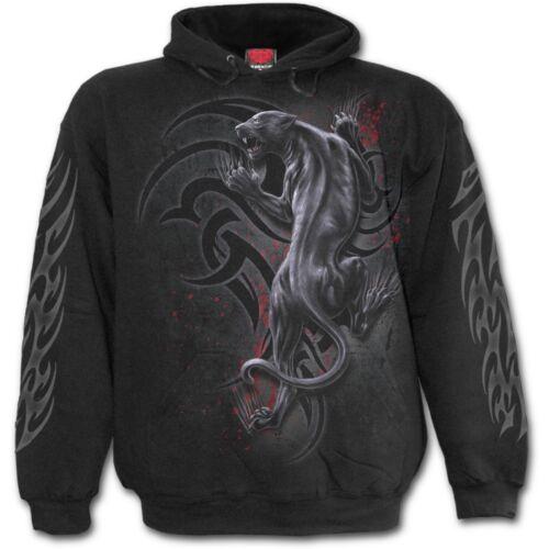 SPIRAL DIRECT TRIBAL PANTHER Hoodie Biker//Skull//Tribal//Tattoo//Wild//Dark//Hoodie