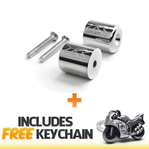 Chrome Engraved Bar Ends For Suzuki GSXR 600 750 1000 Busa+Sportbike Keychain