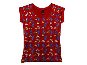 Restposten-Damen-T-shirt-Top-rot-Gr-S-Versandkostenfrei