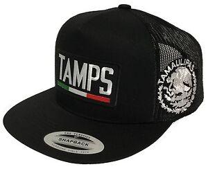 ac3bfab661c TAMAULIPAS MEXICO 2 LOGOS HAT LOGO FEDERAL BLACK MESH SNAPBACK ...