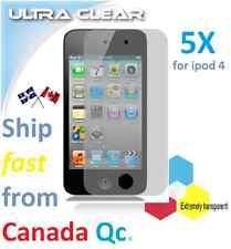 5X ULTRA clear screen protector Apple ipod 4 ipod4 4th film guard Transparent