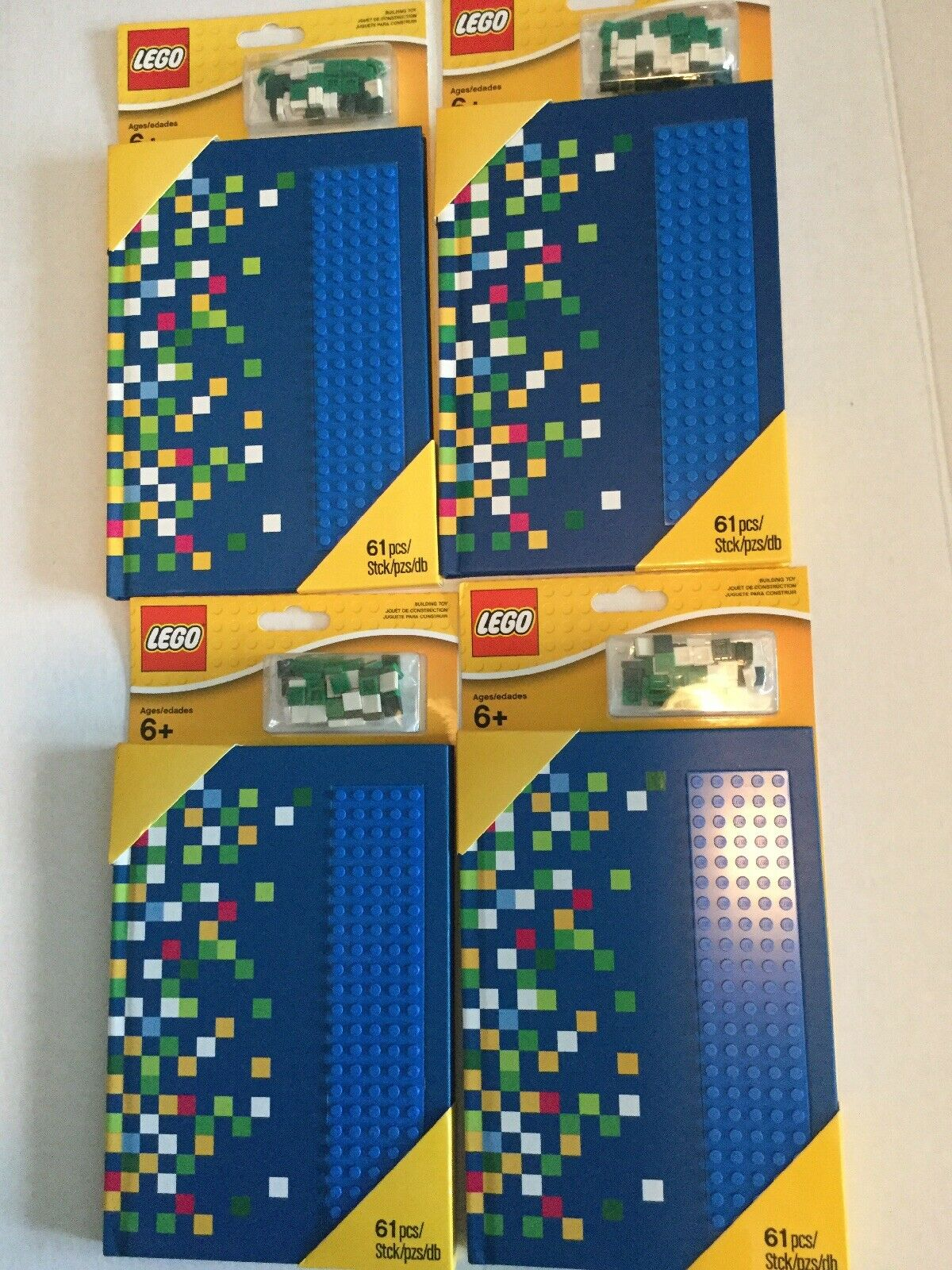 Lot Of 4 LEGO 6142630 Notebook  W studs Journal Party Favors