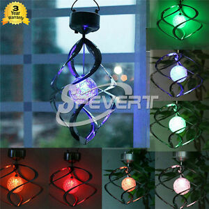 Solar-vento-carillon-Spinner-LED-luce-Giardino-esterna-appeso-lampada-decor-SPT