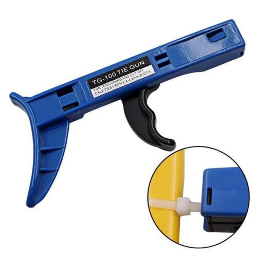 Easy Cable Tie Gun Pull Tighten Fasten Tensioner Tightens Wire Ties Fast