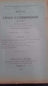 Rivista SCUOLA Antropologia 12EME Anno 1902 F.Alcan N°6 ABE