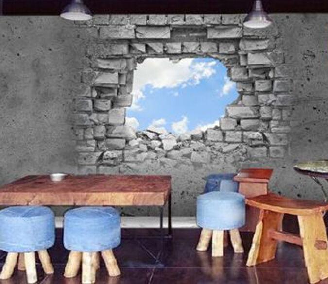3D Loch in den Himmel 267 Fototapeten Wandbild Fototapete BildTapete FamilieDE
