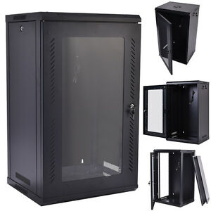Image Is Loading 15U Wall Mount Network Server Data Cabinet Enclosure