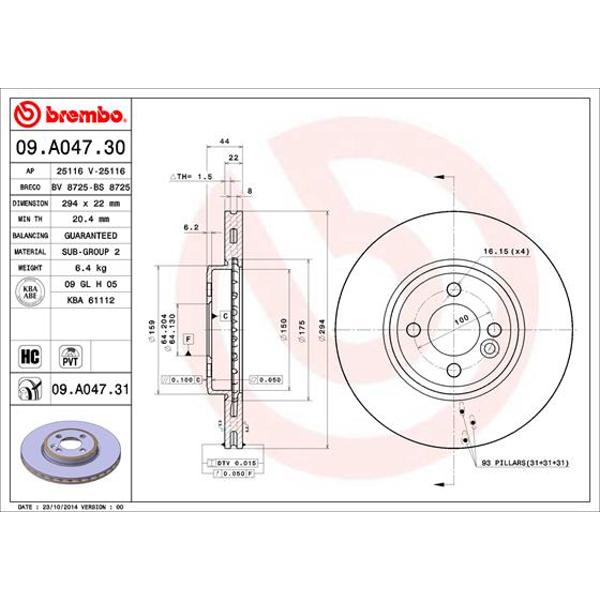 Bremsscheibe Brembo 09.5749.11 COATED DISC LINE 2 Stück