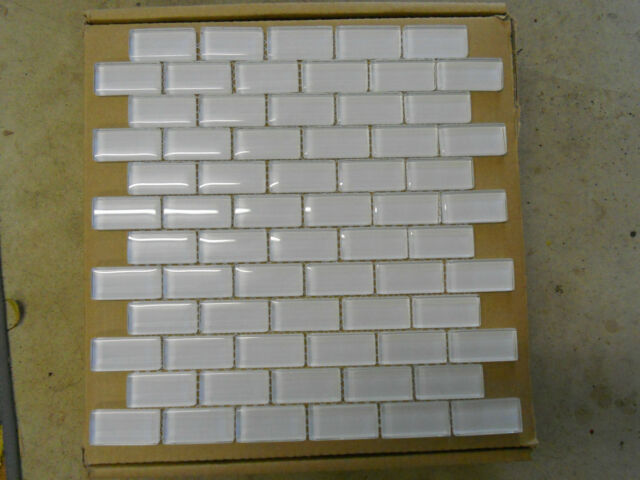 Crystal glass mosaic tiles - Super White - Kitchen splash back/Bathroom walls