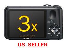 3x Sony CyberShot DSC-H90 Clear LCD Screen Protector Guard Shield Film