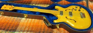 Acoustic (Bartell) Black Widow Bass Guitar - Fretless  Blonde   )))LOOK(((