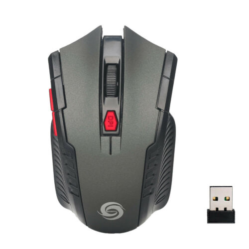 2.4Ghz Universal Wireless Optical Gaming Mouse Mice /& USB Receiver For PC Hot