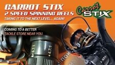 NEW 11 BEARING Carrot Stix 2 SPEED Size 20 Spinning Fishing Reel CSX2000-S2