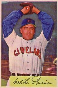Details About Mike Garcia Cleveland Indians 1954 Bowman Baseball Card 100