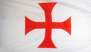 Templar Knights Battle Flag Pennant 3 X 6 Feet Polyester New Crusader